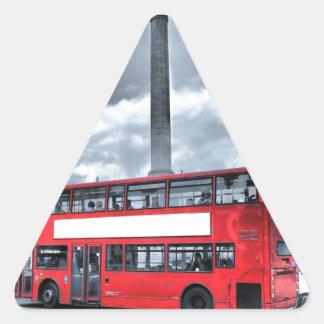 LONDON BUS in Black & White (St.K) Triangle Sticker