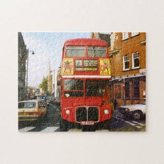 London Bus in Stoke Newington Jigsaw Puzzle