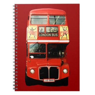 London Bus Motif Notebook