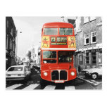 London Bus Painting Style Post Cards
