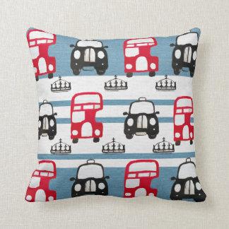 London Bus pillow design