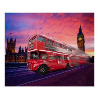 London bus poster print