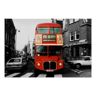 London Bus Poster 2