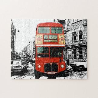 London Bus Spot Colour Jigsaw Puzzle