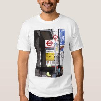 London Bus Stop Sign Man's T-Shirt