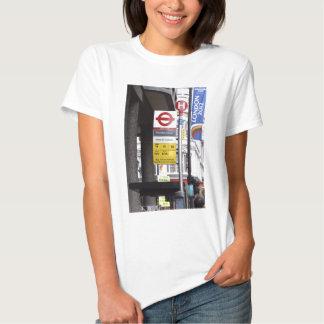 London Bus Stop Sign Woman's T-Shirt