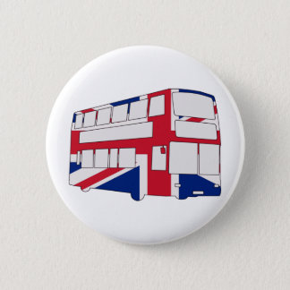 London Bus with Union Jack t shirts and gifts Button