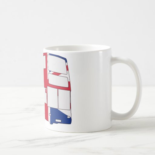 London Bus with Union Jack t shirts and gifts Coffee Mug