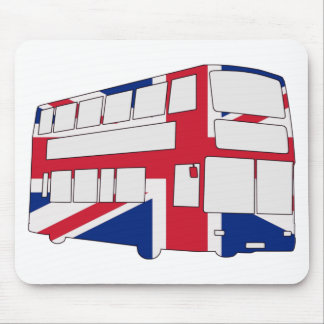 London Bus with Union Jack t shirts and gifts Mouse Pad