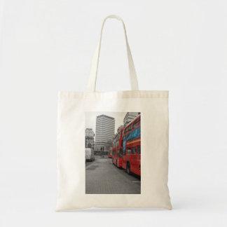 London Buses Tote Bags
