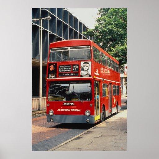 London Buses Daimler rests between duties at Eusto Poster