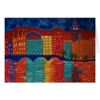 """London"" by Linda Powell~Original ~Notecard Card"