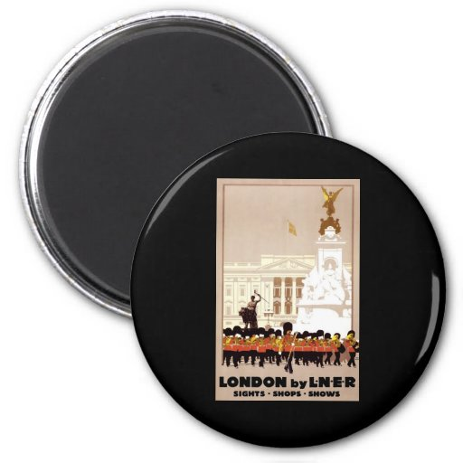 London by LNER 2 Inch Round Magnet