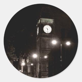 London by Night Classic Round Sticker