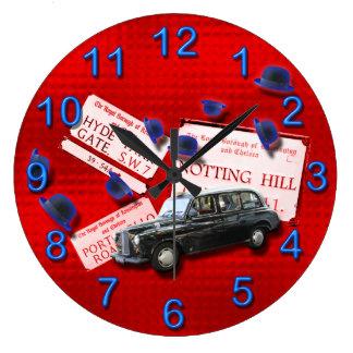 London cab bowler hats British Large Clock