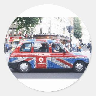 LONDON CAB CLASSIC ROUND STICKER