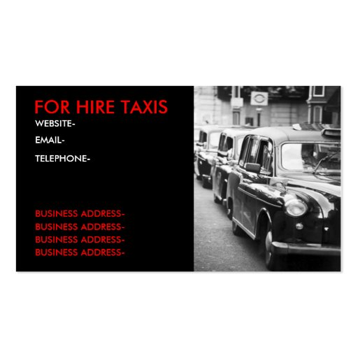 London cabbies business card templates