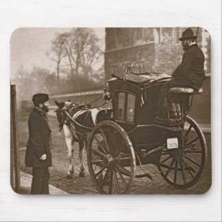 London Cabmen, from 'Street Life in London', 1877- Mouse Pad