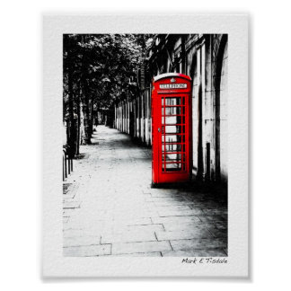 London Calling - Red British Phone Box - Mini Posters