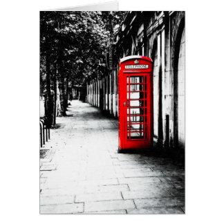 London Calling - Red British Telephone Box Card