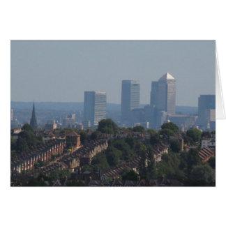 London Canary Wharf View Greeting Card