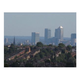 London Canary Wharf View Post Card
