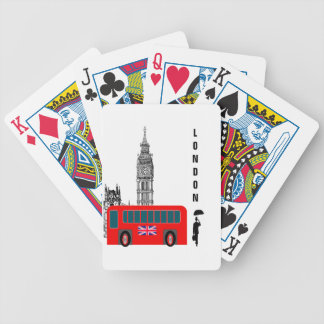 London City Bicycle Playing Cards