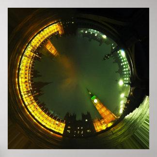 london city big ben parliament landmark british poster
