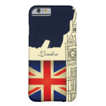 London City Big Ben Union Jack Flag Barely There iPhone 6 Case