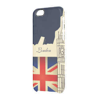 London City Big Ben Union Jack Flag Clear iPhone 6/6S Case