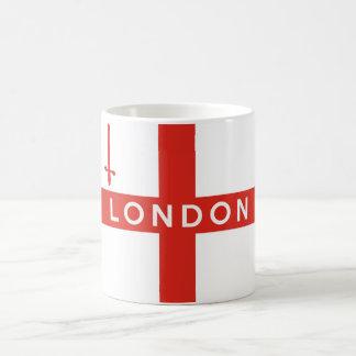london city england british flag text name coffee mug