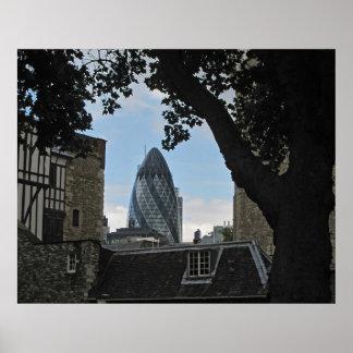 London city Gherkin Building print