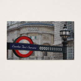 London City Mosaic Taxi Service Business Card