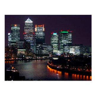 London City Night UK British Travel Postcard