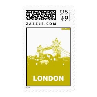 London City Poster Postage Stamp
