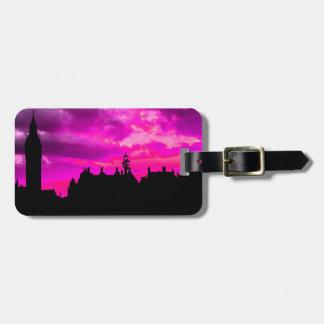 London City Sunset Panorama UK Travel Luggage Tag