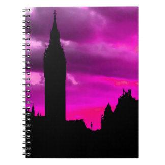 London City Sunset Spiral Notebook