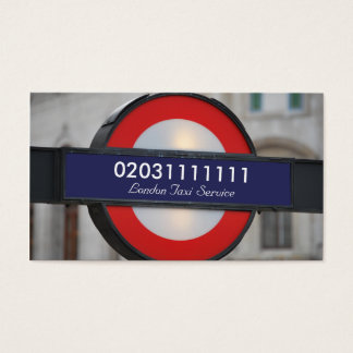 London City Taxi Service Business Card