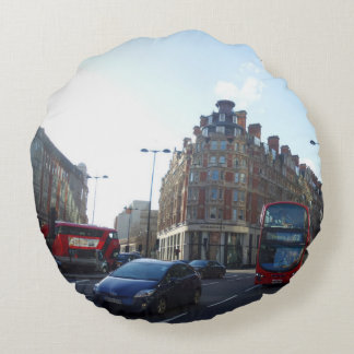 London City View Round Pillow