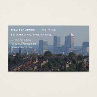 London Cityscape - Canary Wharf photo Business Card