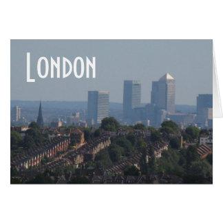 London Cityscape - Canary Wharf photo Card