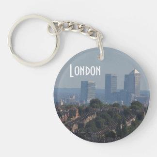 London Cityscape - Canary Wharf photo Keychain