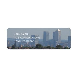 London Cityscape - Canary Wharf photo Return Address Label