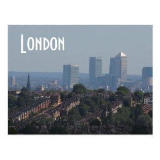 London Cityscape - Canary Wharf photo Postcard