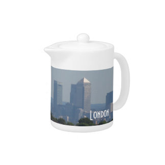 London Cityscape - Canary Wharf photo Teapot