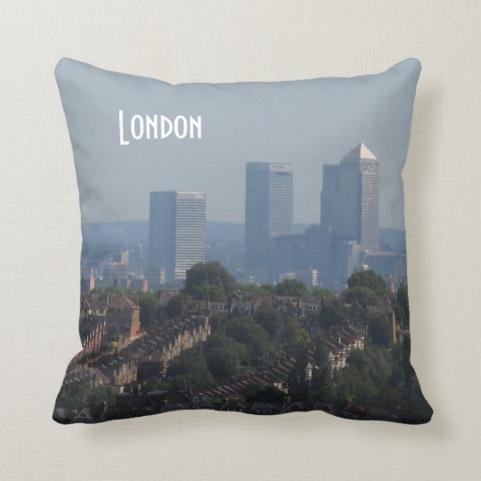 London Cityscape - Canary Wharf photo Throw Pillow