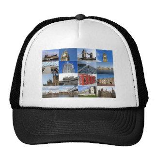 London collage trucker hat