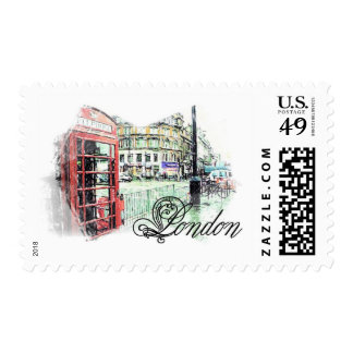 London Colored  Sketch Postage