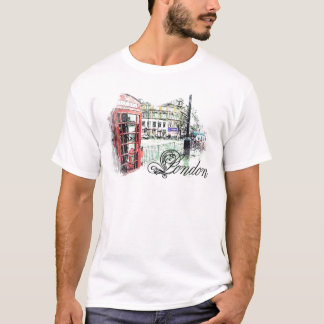 London Colored  Sketch T-Shirt