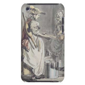 London Cries A Milkmaid c 1759 pen ink brush iPod Case-Mate Case